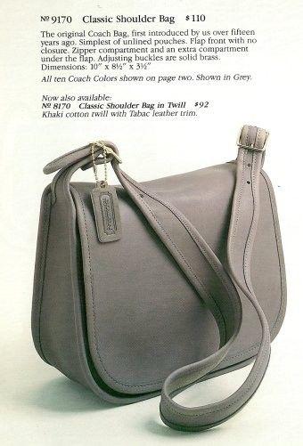 a1e3fe6b23 Coach classic pouch shoulder bag 9170