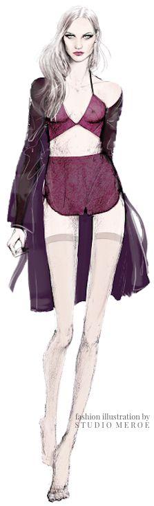 Lingerie Fashion Illustration by Candace @Candace @ Studio Meroe