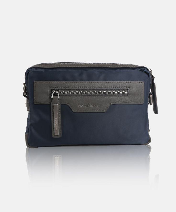 Giorgio Agnelli men's bag Bergamo 8815-6 Blue #men #bag #clutch #leather