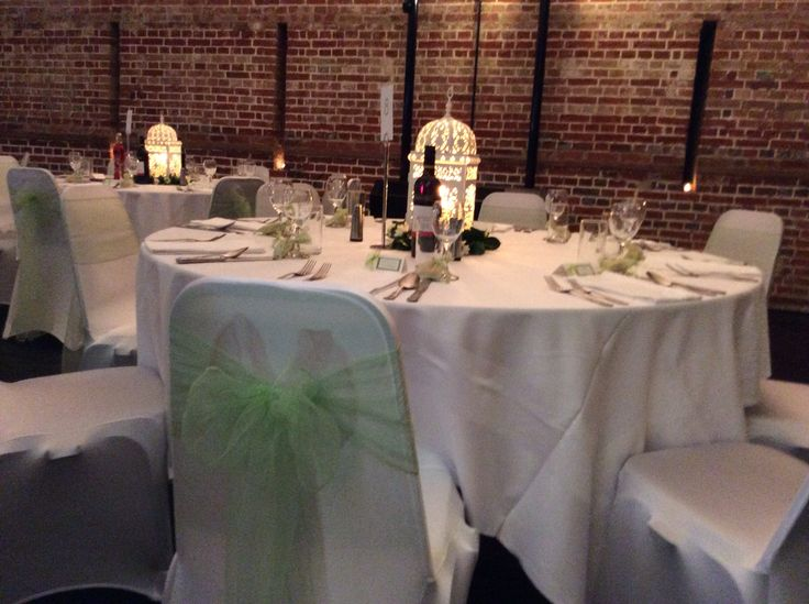 Light green wedding reception @explosionmuseum