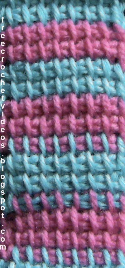 Change Color in Tunisian Crochet - Great Video Tutorial •✿• Teresa Restegui http://www.pinterest.com/teretegui/ •✿•