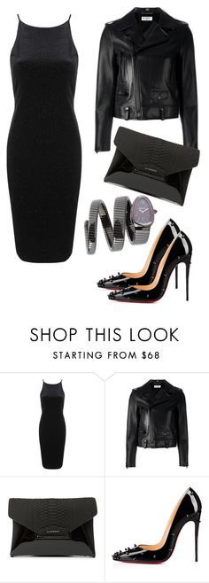 """""""Outfit #143"""" by sofi6277 ❤ liked on Polyvore featuring Topshop, Yves Saint Laurent, Givenchy, Christian Louboutin, MAD, women's clothing, women's fashion, women, female and woman"""