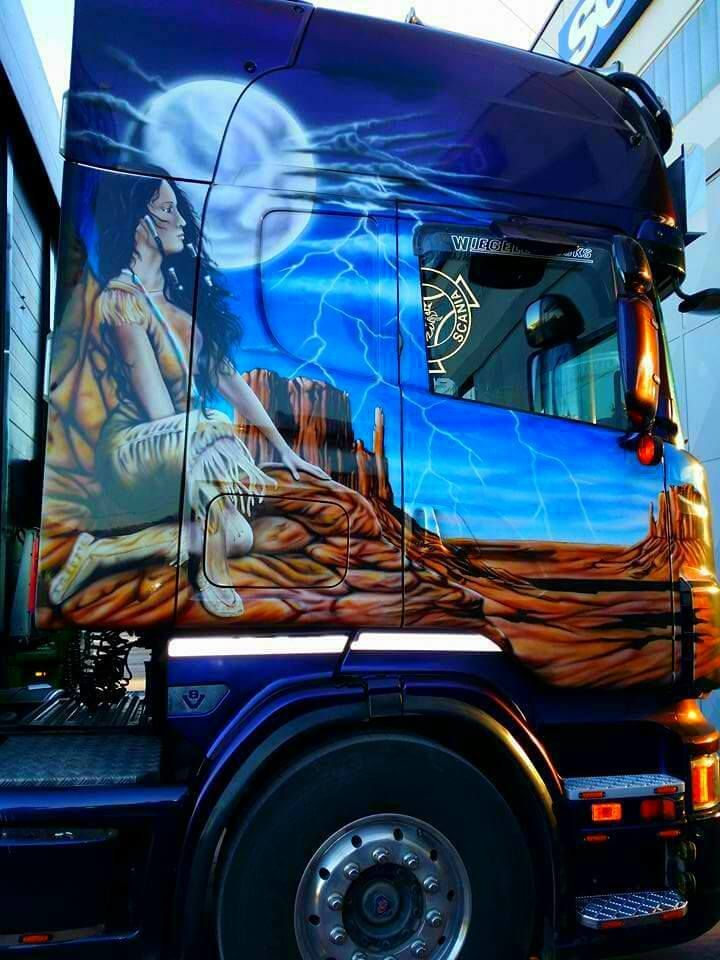 Scania Large Scale Airbrush Work Big Rig Trucks Custom Trucks Big Trucks