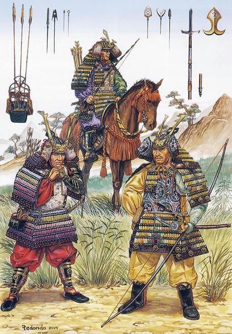 • Samurai archer on horseback, Kamakura period • Taira Masakado • Minamoto Yoshitsune
