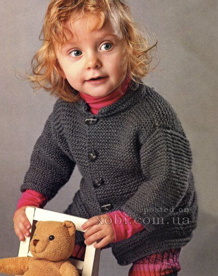 детский серый жакет