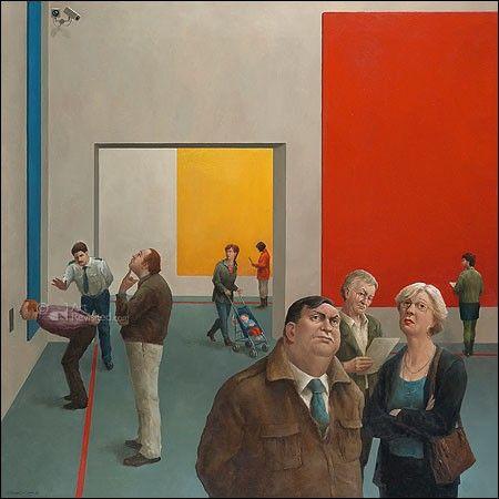 Marius van Dokkum - Kijk vooral naar de dame rechtsonder....zo'n karakteristieke museumbezoekster :)