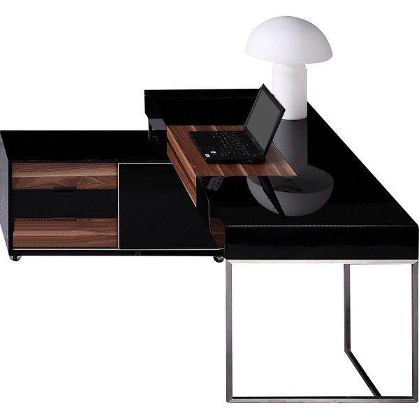 Erwon Steel Computer Desk Office Furniture Modern Contemporary Office Desk Rustic Living Room Furniture