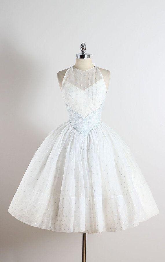 Vestido vintage años 50 Vestido de boda de por millstreetvintage