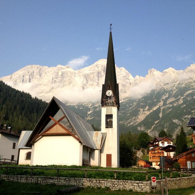 Pecol, Zoldo Alto, Italy. Mount Civetta. The Dolomites.