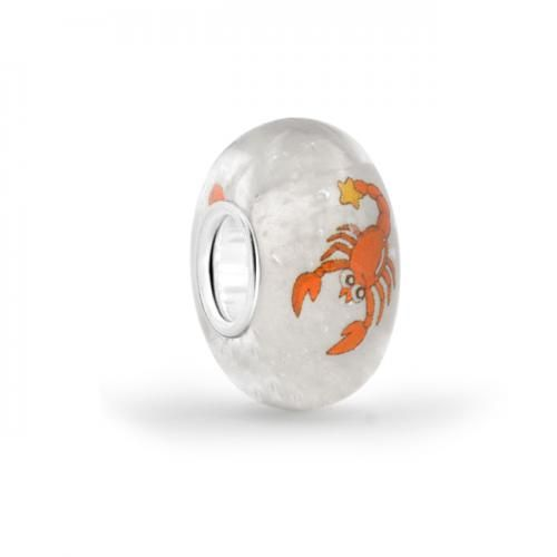 925 Sterling Silver Scorpion Murano Glass Animal Bead Pandora Style
