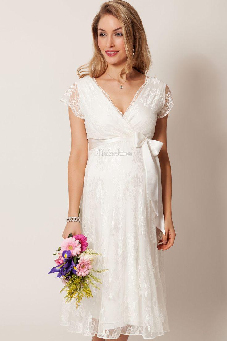Robe de mariée a-ligne avec dentelle fermeture eclair col v sans manche