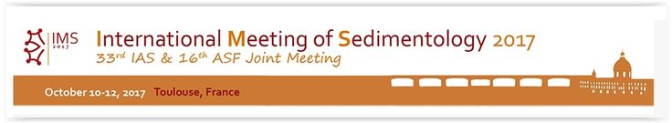 #geocongress IMS — International Meeting in Sedimentology: 33rd IAS and 16th ASF joint meetings. Toulouse, France. 10 Oct 2017 - 12 Oct 2017. Dear participants, you have received (many times, sorry about that!) your submission assignement. Given the huge number of submissions received, we increased the number of sessions running in parallel...