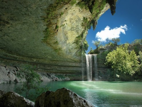Canopy Waterfall at Hamilton Pool, Austin , Texas - Andy Sowards