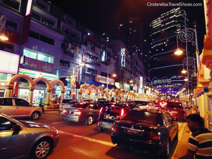 Traffic on main street in Little India, Kuala Lumpur