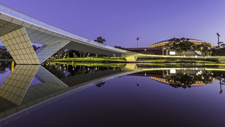 Adelaide Oval + Footbridge, Adelaide, South Australia