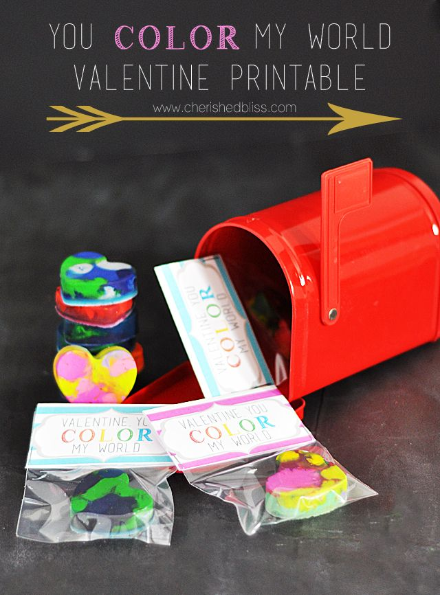 You color my world, Valentine! - Free printable Valentine!