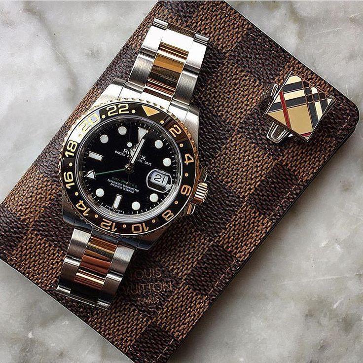 Rolex Two Tone GMT 116713. #gmt #rolex #rolexgmt #rolexwatch #gqstyle #louisvuitton