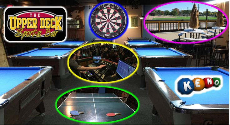 The Upper Deck Sports Bar has something for everyone.
