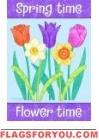Flower Time House Flag