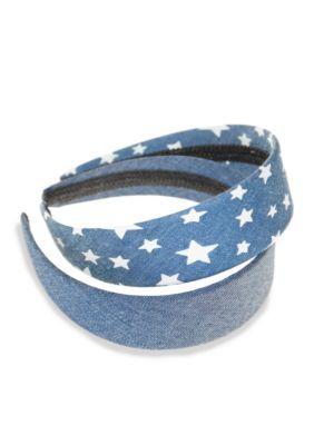 Riviera 2-Pack Denim Headbands - Denim - One Size