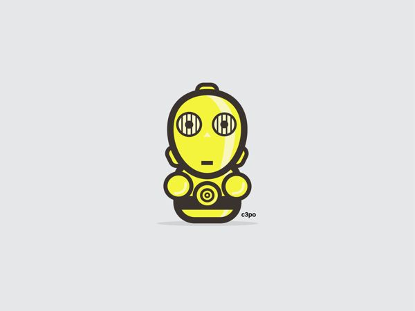 C3PO | 9 Insanely Cute 'Star Wars' Illustrations