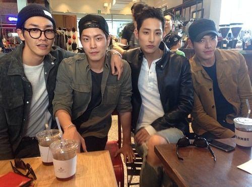 So much handsome in one picture...Kim Young Kwang, Hong Jong Hyun, Lee Soo Hyuk, and Woo Bin