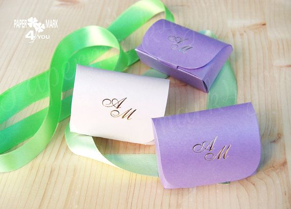 Personalized Monogram Wedding Favor Box_Paper by PaperMark4You