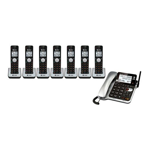 AT&T CL84102 Corded Phone with 7 AT&T CL80111 Handsets Top Office Shop