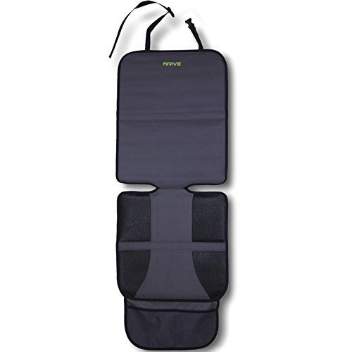 Car Seat Protector (1-Pack) by Drive Auto Products - Ultimate Neoprene Backing is Best Protection for Child & Baby Cars Seats, Dog Mat - Cover Pad Protects Automotive Vehicle Leather, Cloth Upholstery. For product info go to:  https://www.caraccessoriesonlinemarket.com/car-seat-protector-1-pack-by-drive-auto-products-ultimate-neoprene-backing-is-best-protection-for-child-baby-cars-seats-dog-mat-cover-pad-protects-automotive-vehicle-leather-cloth-uphols/