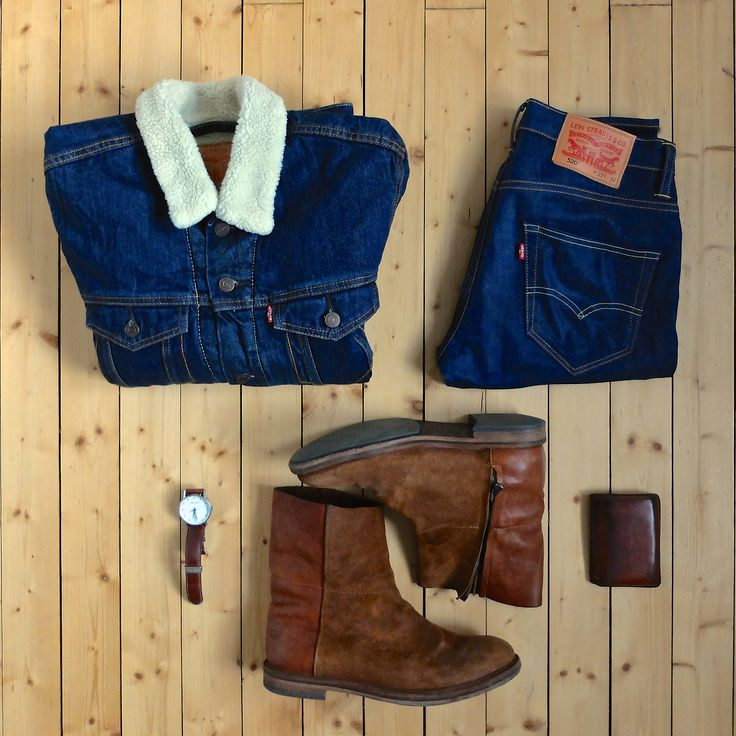 Back to basics, back to denim. Jacket: Levis Jeans: Levis 520 Boots: Acne Studios Watch: Georg Jensen Wallet: Oscar Jacobson