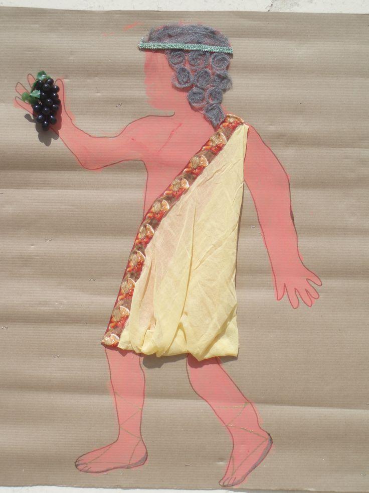 ΔΙΟΝΥΣΟΣ (λεπτομ. μαλλιά από σύρμα για κατσαρόλες) από Μένια Παπουτσή