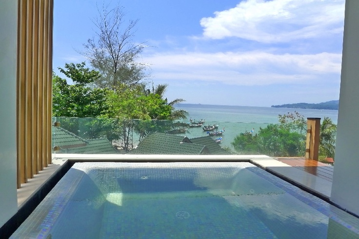Private swimming pool at the Beachfront Luxury Condo in Phuket, Thailand