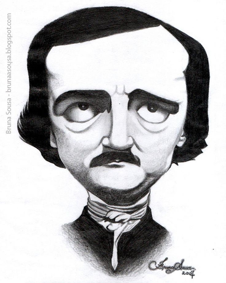Caricatura - Edgar Alan Poe   by Bruna Sousa