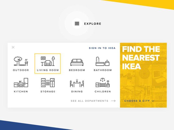 Concept Menu for IKEA's Website
