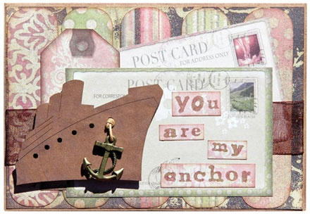 You are my anchor - card