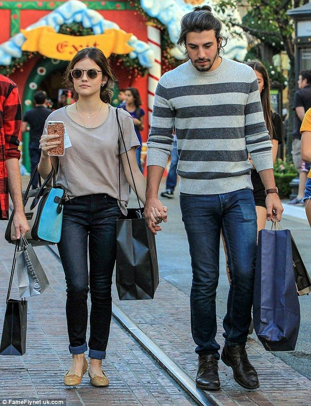 'Tis the season! Lucy Hale, 26, and her musician beau, Anthony Kalabretta did some holiday...