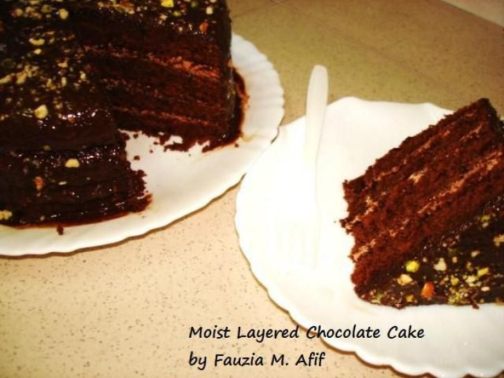 Fauzia Kitchen Chocolate Cake