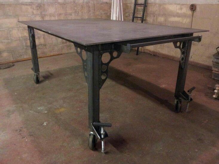 Fab Table with wheel locks.