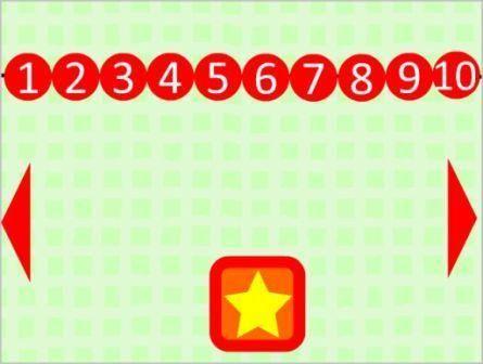 Μαθαίνω να μετράω αριθμούς από το 1 – 10  Με αυτό το παιχνίδι οι μικροί μας φίλοι θα γνωρίσουν τους αριθμούς 1 έως 10 με ένα πιο διασκεδαστικό τρόπο . Στην πρώτη διαφάνεια πατώντας το αστεράκι θα εμφανίζονται αριθμημένες μπάλες με τη σειρά , έπειτα πατώντας τα βελάκια για την επόμενη διαφάνεια πατάμε το αστέρι και παρουσιάζονται φρούτα και λαχανικά ομαδοποιημένα κατά αριθμό.