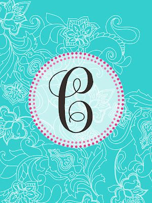 the pink elephant: MONOGRAM MADNESS! Cute free iPad and iPhone monogram wallpaper!