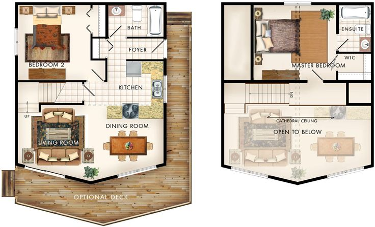 44 best Tiny House Ideas images on Pinterest Small homes, Small - plan maison plain pied 80m2