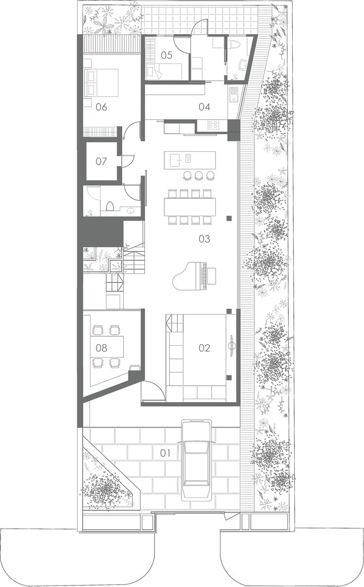 Image 10 of 15 from gallery of Terrace House / Formwerkz Architects. First Floor Plan
