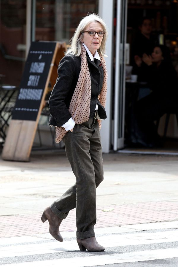 Look of the Day - Diane Keaton Is Our Forever Off-Duty Style Inspiration from InStyle.com