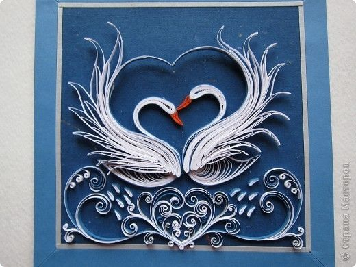 quilled swans