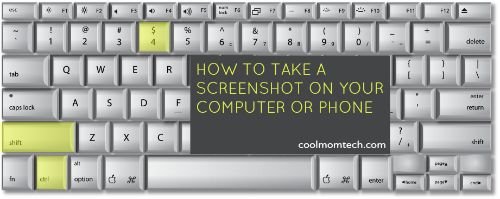 How to take a screenshot on your computer and smartphone.