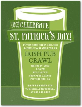 put on some green and have a st patty s day pub crawl let all your