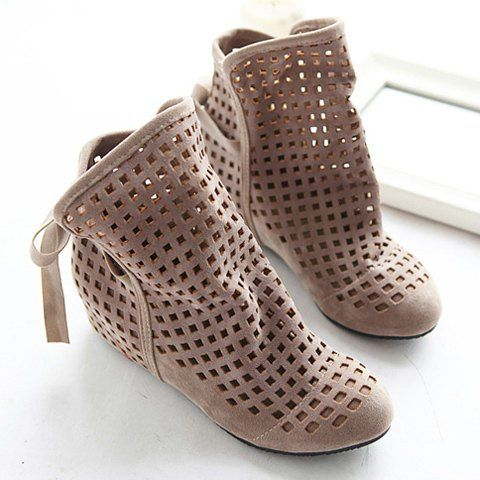 SHARE & Get it FREE | Special Offer Fashion and Casual Openwork Lacing Round Head Design Women's BootsFor Fashion…