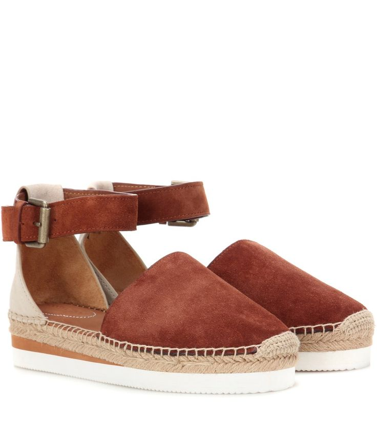 See By Chloé - Suede espadrille sandals - See by Chloé has you covered for warm-weather chic with these espadrille sandals. A classic jute intersection is finished off with a sneaker-inspired sole, bringing a sports-luxe vibe to the style. We love to offset the suede design with flirty, short hemlines. seen @ www.mytheresa.com