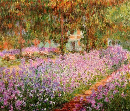 Ireses in Monet's Garden by Claude Monet