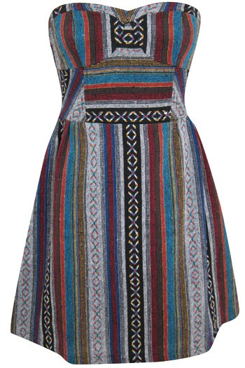 Looks Like A Drug Rug But In Dress Form. My Kinda Dress!